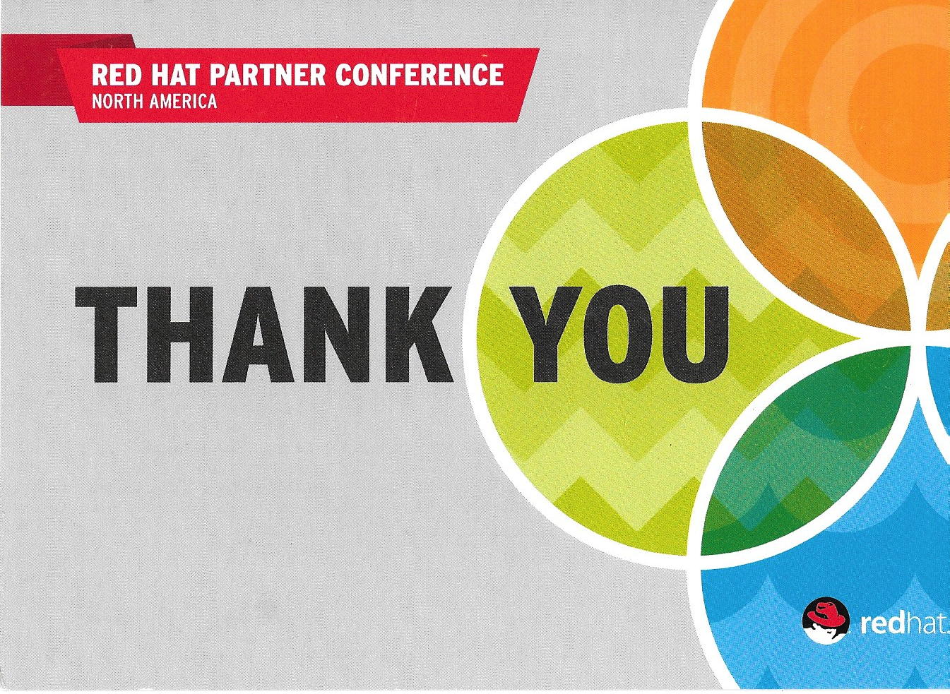 Red Hat Partners postcard