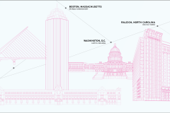 Monuments of the world line drawing